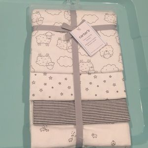 Carter's 4 pack receiving blankets